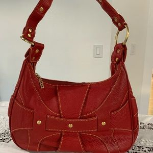 Max New York genuine red leather purse